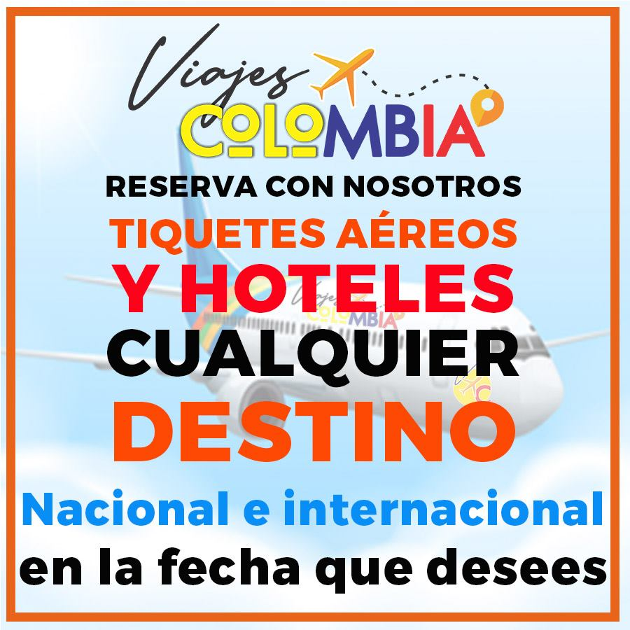 Reserva tiquetes aéreos y hoteles con Viajes x Colombia a cualquier destino nacional e internacional.